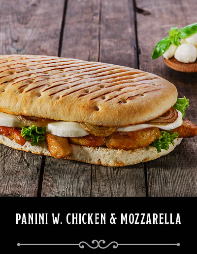 Chicken Pesto and Mozzarella Panini